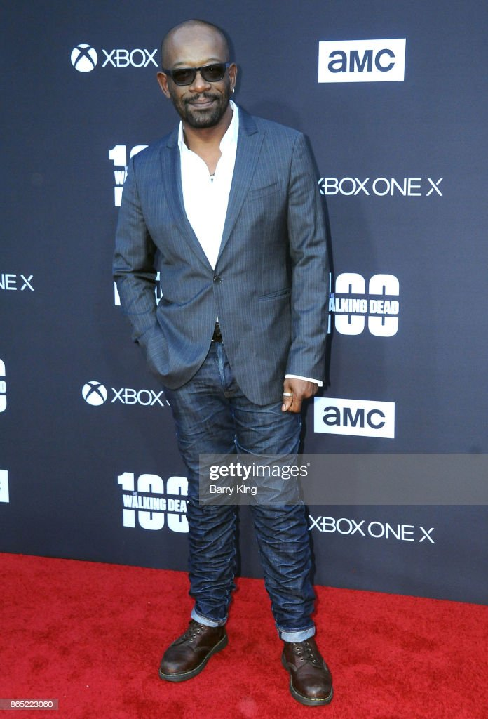 Actor Lennie James attends AMC Celebrates The 100th Episode of 'The Walking Dead' at The Greek Theatre on October 22, 2017 in Los Angeles, California.