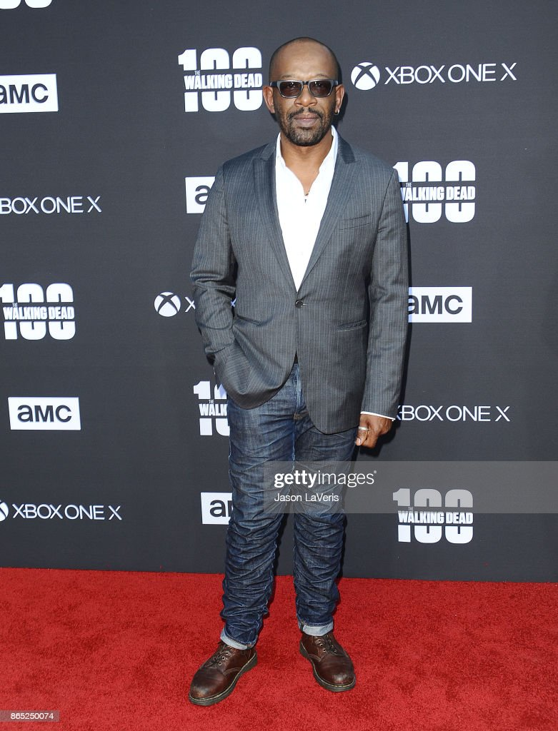 Actor Lennie James attends the 100th episode celebration off 'The Walking Dead' at The Greek Theatre on October 22, 2017 in Los Angeles, California.