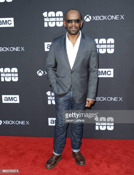 Actor Lennie James attends the 100th episode celebration off 'The Walking Dead' at The Greek Theatre on October 22 2017 in Los Angeles California