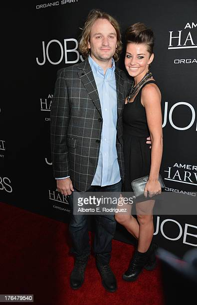 """Actor Lenny Jacobson and guest attend the screening of Open Road Films and Five Star Feature Films' """"Jobs"""" at Regal Cinemas L.A. Live on August 13,..."""