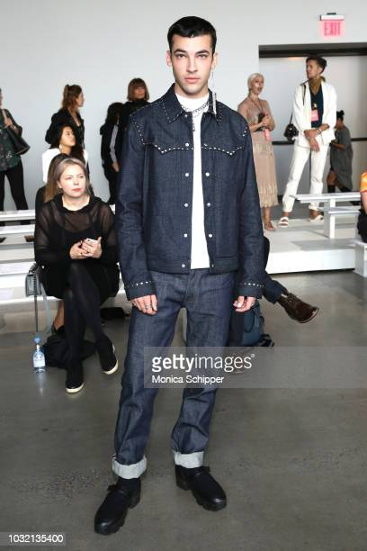 Actor Leo Reilly attends the Calvin Luo front Row during New York Fashion Week The Shows at Gallery I at Spring Studios on September 12 2018 in New...