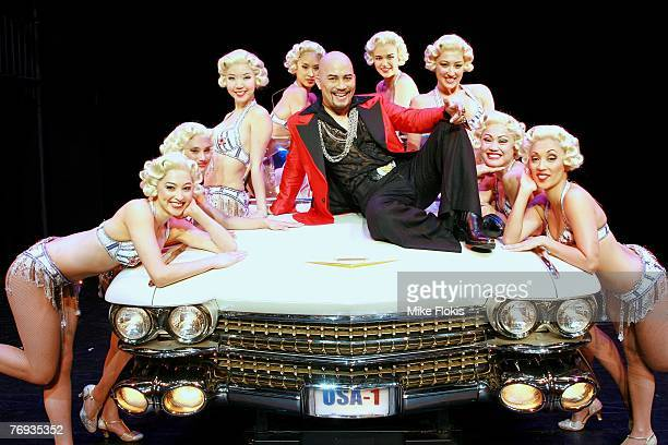 Actor Leo Tavarro and dancers during a media call for Miss Saigon at the Lyric Theatre on September 21 2007 in Sydney Australia