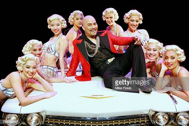 Actor Leo Tavarro and dancers pose during a media call for Miss Saigon at the Lyric Theatre on September 21 2007 in Sydney Australia