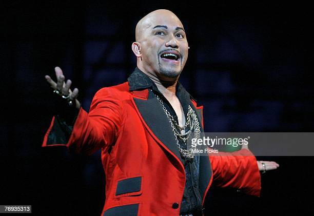 Actor Leo Tavarro performs during a media call for Miss Saigon at the Lyric Theatre on September 21 2007 in Sydney Australia