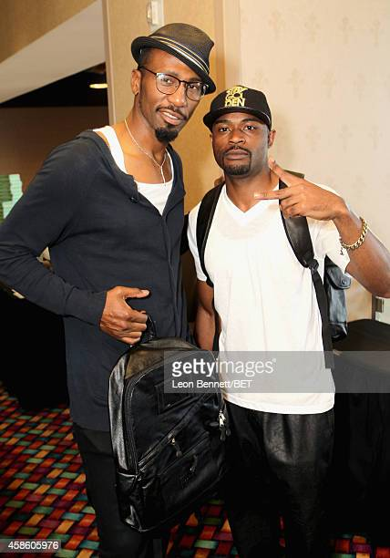 Actor Leon and guest attend day 2 of the 2014 Soul Train Music Awards Gifting Suite at the Orleans Arena on November 7 2014 in Las Vegas Nevada