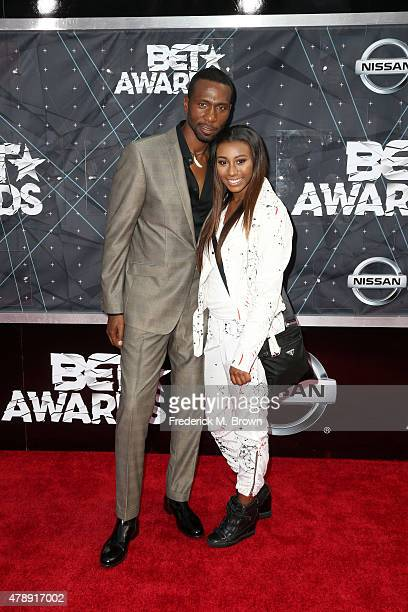 Actor Leon and Noelle Robinson attend the 2015 BET Awards at the Microsoft Theater on June 28 2015 in Los Angeles California