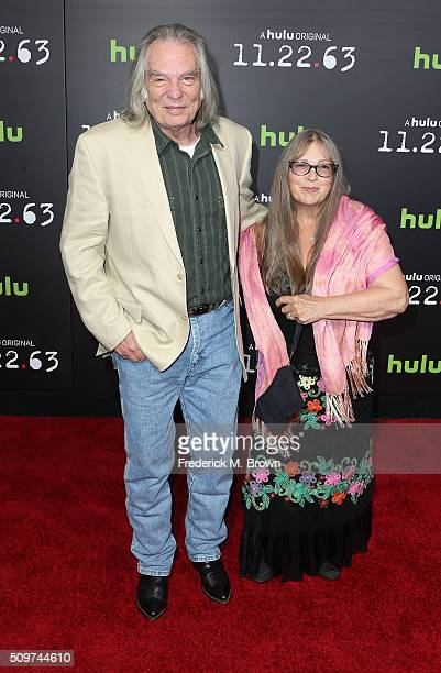 Actor Leon Rippy and Carol Rippy attend the Premiere of Hulu's 112263 at the Regency Bruin Theatre on February 11 2016 in Los Angeles California