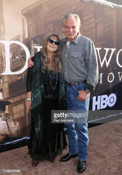 Actor Leon Rippy and his Wife Carol Rippy attend the LA premiere of HBO's Deadwood at The Cinerama Dome on May 14 2019 in Los Angeles California
