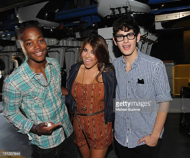 Actor Leon Thomas III actress Daniella Monet and actor Matt Bennett attend the 'Do Something Awards event at Six Flags Magic Mountain hosted by VH1...