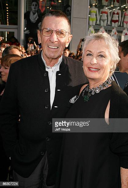 """Actor Leonard Nimoy and actress Susan Bay arrive on the red carpet of the Los Angeles premiere of """"Star Trek"""" at the Grauman's Chinese Theater on..."""