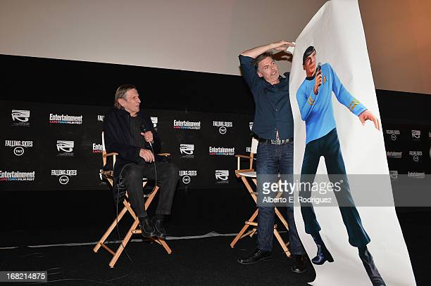 Actor Leonard Nimoy and EW wrier Goeff Boucher attend Entertainment Weekly's CapeTown Film Festival presented by The American Cinematheque and...