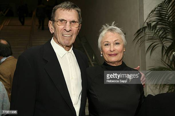 Actor Leonard Nimoy and Susan Bay Nimoy at the Gala In The Garden event at the Hammer Museum on October 14, 2007 in Westwood, California.
