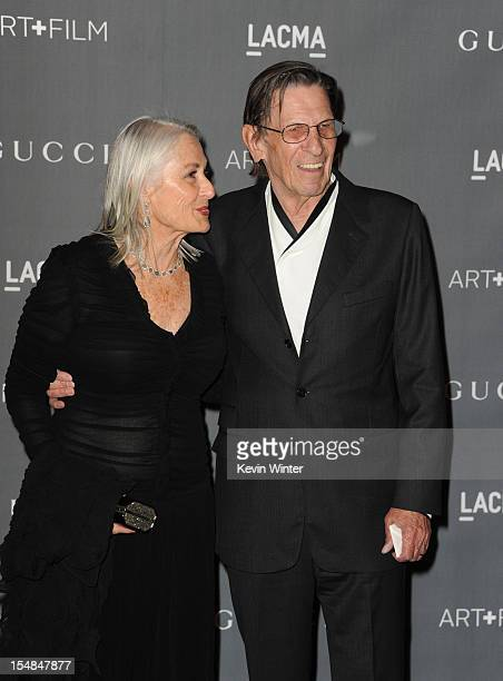 Actor Leonard Nimoy and Susan Nimoy arrive at LACMA 2012 Art + Film Gala at LACMA on October 27, 2012 in Los Angeles, California.