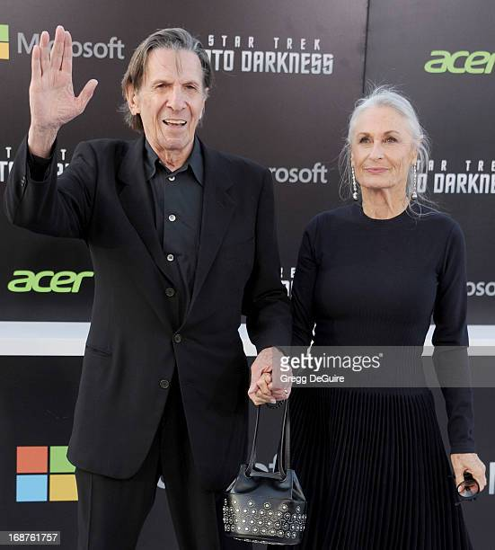 """Actor Leonard Nimoy and wife Susan Bay arrive at the Los Angeles premiere of """"Star Trek: Into Darkness"""" at Dolby Theatre on May 14, 2013 in..."""