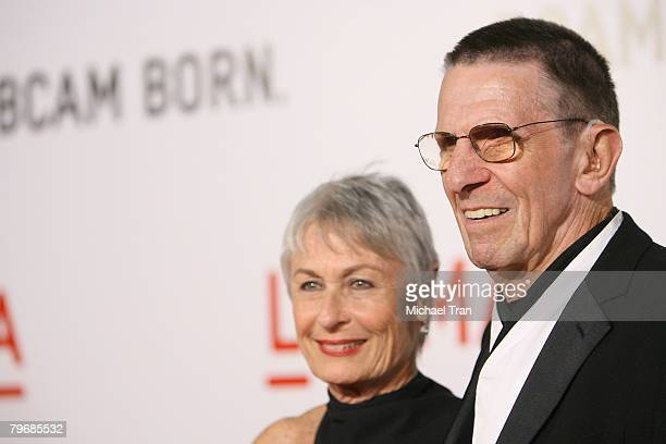 Actor Leonard Nimoy and wife Susan Bay arrive at the opening celebration of the Broad Contemporary Art Museum at held at LACMA Museum on February 9,...