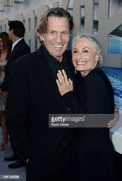"""Actor Leonard Nimoy and wife Susan Bay arrive at the Premiere of Paramount Pictures' """"Star Trek Into Darkness"""" at Dolby Theatre on May 14, 2013 in..."""