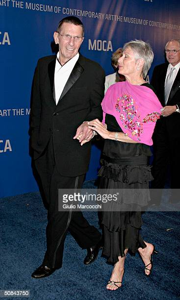 Actor Leonard Nimoy and wife Susan Bay attend MOCA 25 Years of Ground Breaking Art Achievements Anniversary Gala on May 15, 2004 at The Geffen...