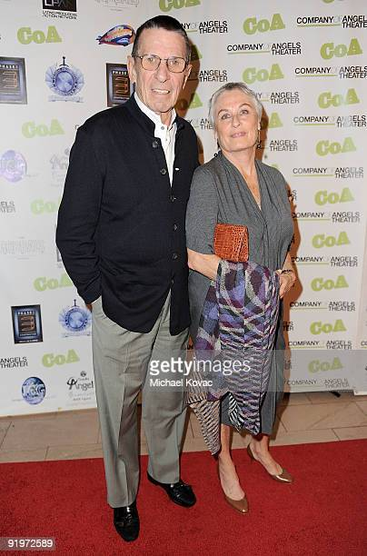 Actor Leonard Nimoy and wife Susan Bay attend the Company Of Angel's 50th Anniversary Gala Honoring Leonard Nimoy at The Alexandria Hotel on October...