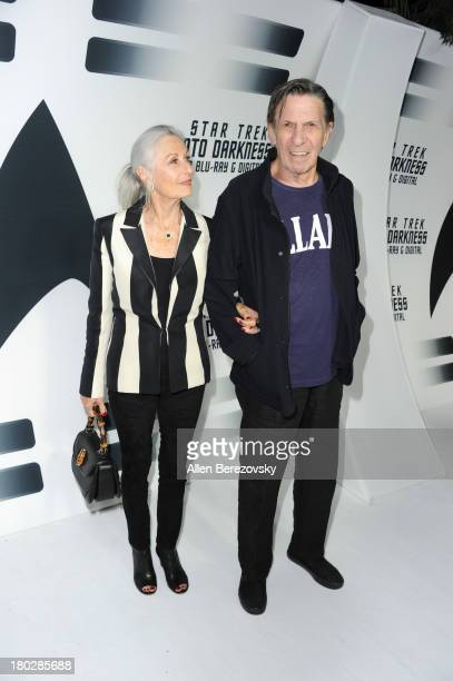 """Actor Leonard Nimoy and wife Susan Bay attend the Paramount Pictures' celebration of the Blu-Ray and DVD debut of """"Star Trek: Into Darkness"""" at..."""