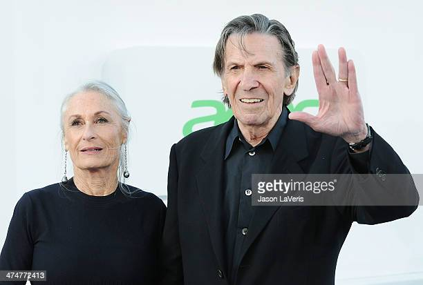 Actor Leonard Nimoy and wife Susan Bay attend the premiere of Star Trek Into Darkness at Dolby Theatre on May 14 2013 in Hollywood California