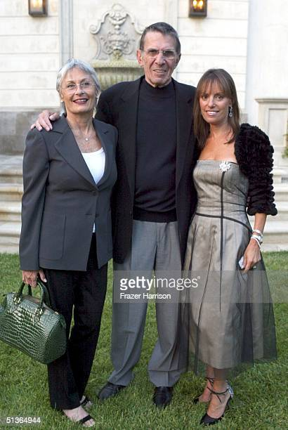 Actor Leonard Nimoy and wife Susan Nimoy pose with Julia Sorkin president of P.S Arts at the 7th Annual Express Yourself chairty event in celebration...