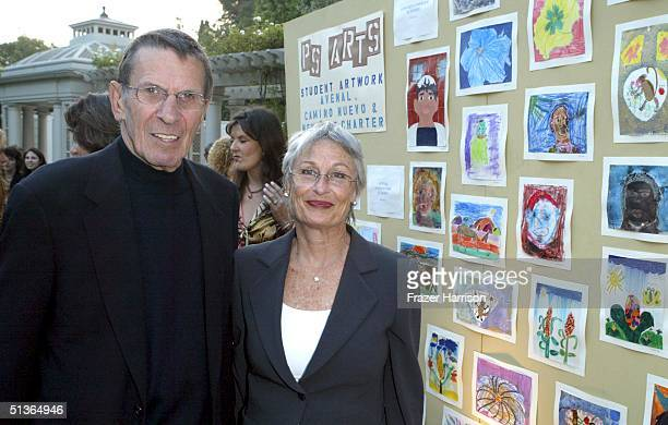 Actor Leonard Nimoy and wife Susan Nimoy poseat the 7th Annual Express Yourself chairty event in celebration of the new partnership between P.S Arts...