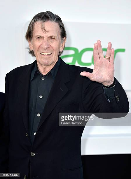 """Actor Leonard Nimoy arrives at the premiere of Paramount Pictures' """"Star Trek Into Darkness"""" at Dolby Theatre on May 14, 2013 in Hollywood,..."""