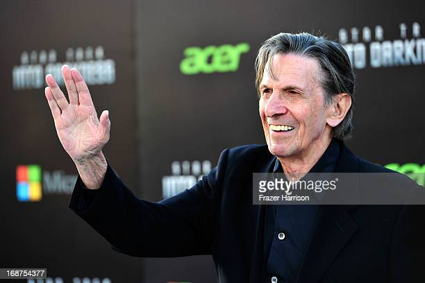 Actor Leonard Nimoy arrives at the premiere of Paramount Pictures' 'Star Trek Into Darkness' at the Dolby Theatre on May 14, 2013 in Hollywood,...