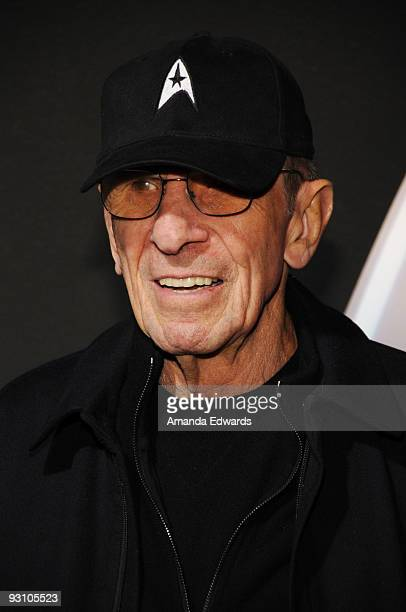 Actor Leonard Nimoy arrives at the Star Trek DVD and BluRay release party at the Griffith Observatory on November 16 2009 in Los Angeles California