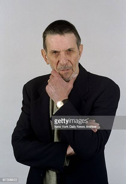 Actor Leonard Nimoy at the Daily News.