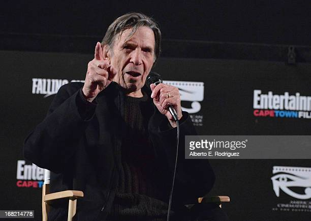 """Actor Leonard Nimoy attends Entertainment Weekly's CapeTown Film Festival presented by The American Cinematheque and sponsored by TNT's """"Falling..."""