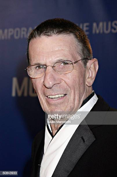 Actor Leonard Nimoy attends MOCA 25 Years of Ground Breaking Art Achievements Anniversary Gala on May 15, 2004 at The Geffen Contemporary in Los...