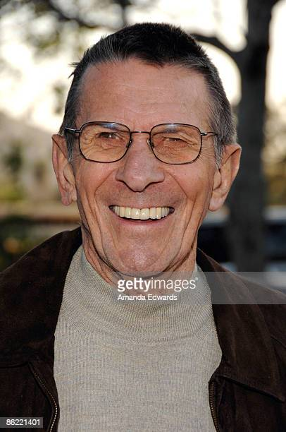 Actor Leonard Nimoy attends the 19th Annual 'Hollywood Charity Horse Show' at the Los Angeles Equestrian Center on April 25 2009 in Burbank California
