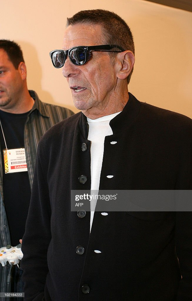 Actor Leonard Nimoy attends the launch event of Yoostar 2 at the 2010 E3 Expo in Los Angeles, on June 16, 2010. Typically a stage for new blockbuster titles, the Electronic Entertainment Expo (E3) this year will also be an arena where Sony, Microsoft and Nintendo duel with motion-sensing controls for rival PlayStation 3, Xbox 360, and Wii consoles.