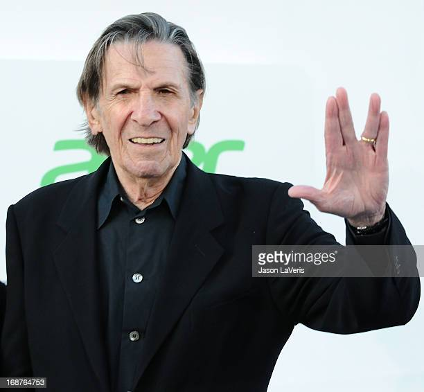 """Actor Leonard Nimoy attends the premiere of """"Star Trek Into Darkness"""" at Dolby Theatre on May 14, 2013 in Hollywood, California."""