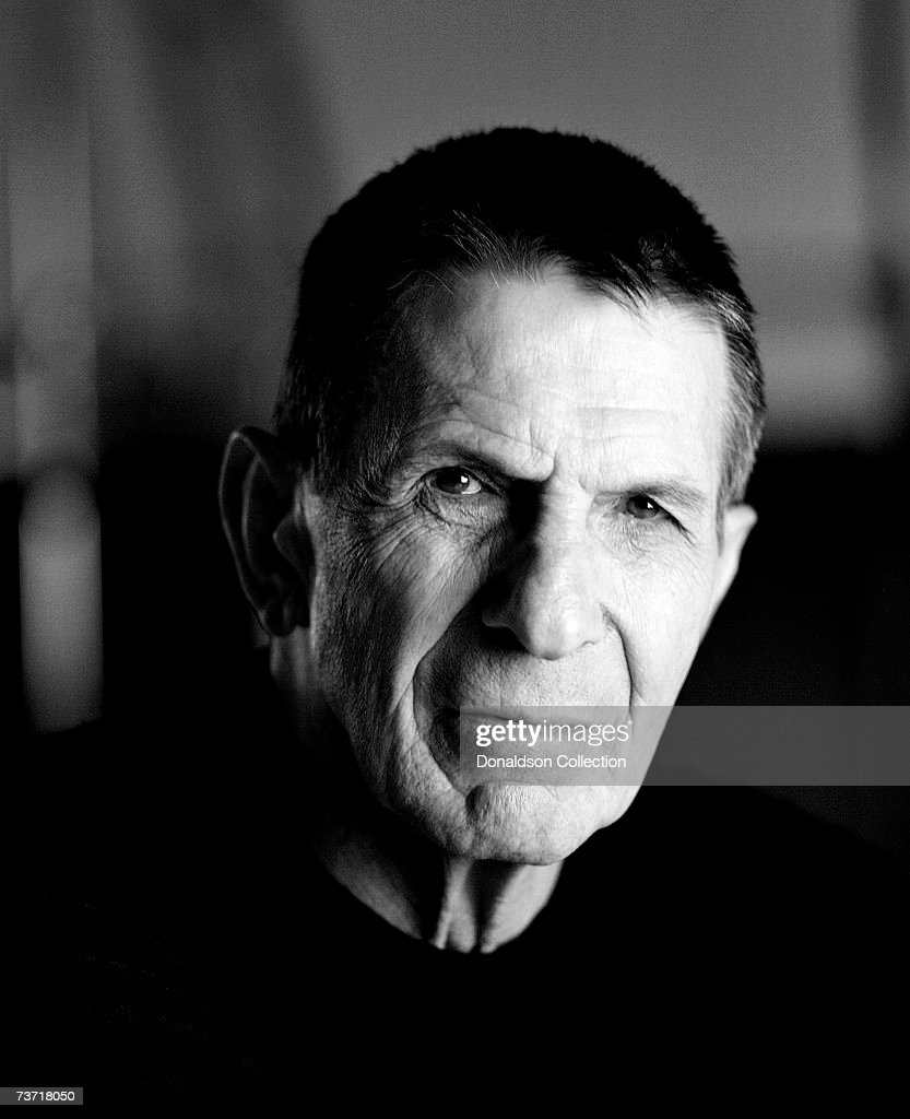 Actor Leonard Nimoy poses for publicity photos in 1998 at a studio, in Los Angeles, California.