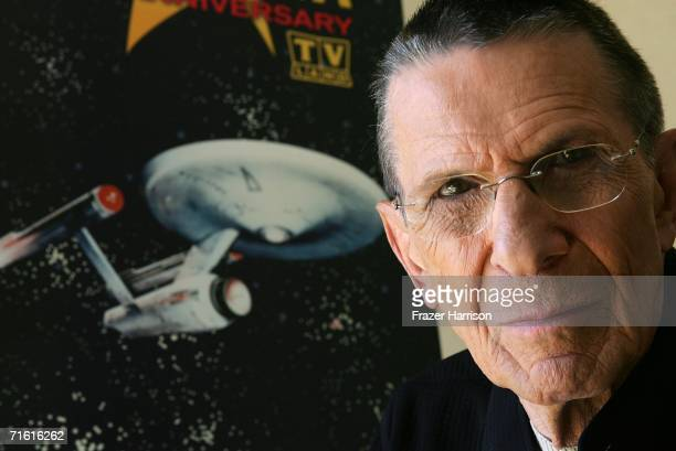 Actor Leonard Nimoy promotes the 'Star Trek' 40th Anniversary on the TV Land network at the Four Seasons hotel August 9 2006 in Los Angeles...