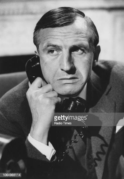 Actor Leonard Rossiter in a scene from the 'BBC Play of the Month' episode 'The Devil's Headshell' 1966