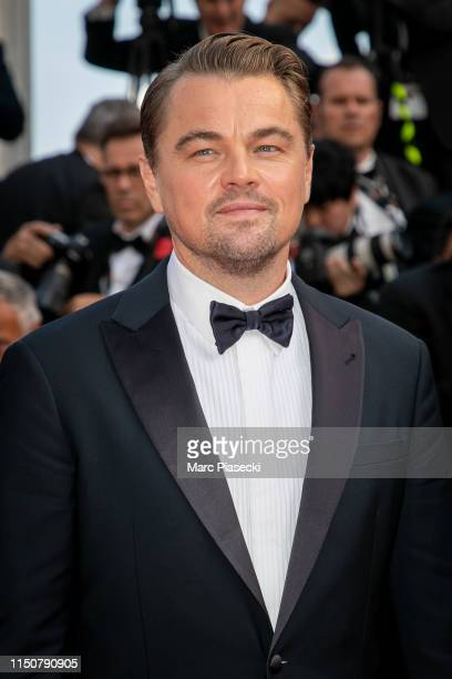 """Actor Leonardo Di Caprio attends the screening of """"Once Upon A Time In Hollywood"""" during the 72nd annual Cannes Film Festival on May 21, 2019 in..."""