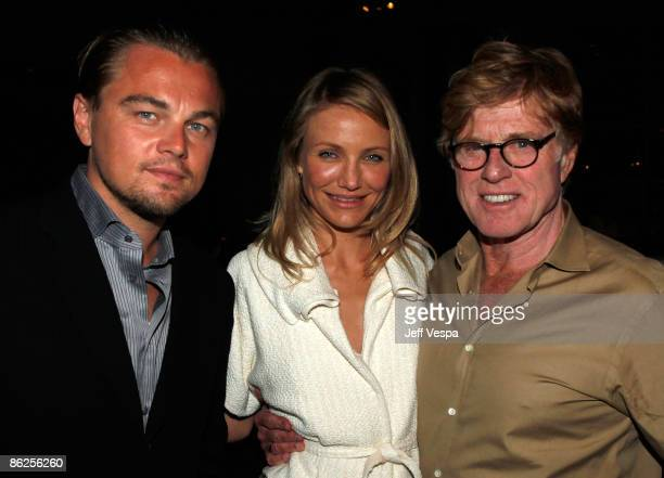 Actor Leonardo DiCaprio, Actress Cameron Diaz and Actor Robert Redford attend the Natural Resources Defense Council's 20th Anniversary Celebration at...
