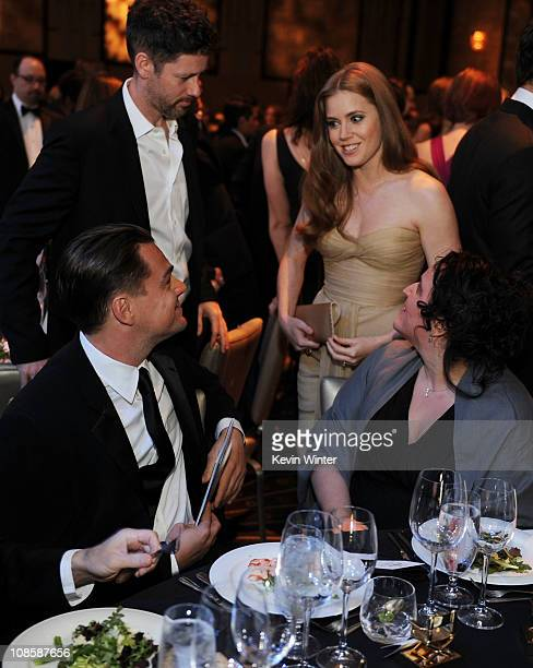 Actor Leonardo DiCaprio and actress Amy Adams in the audience at the 63rd Annual Directors Guild Of America Awards held at the Grand Ballroom at...