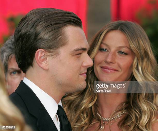 Actor Leonardo DiCaprio and Actress Gisele Bundchen arrives at the 77th Annual Academy Awards at the Kodak Theater on February 27, 2005 in Hollywood,...