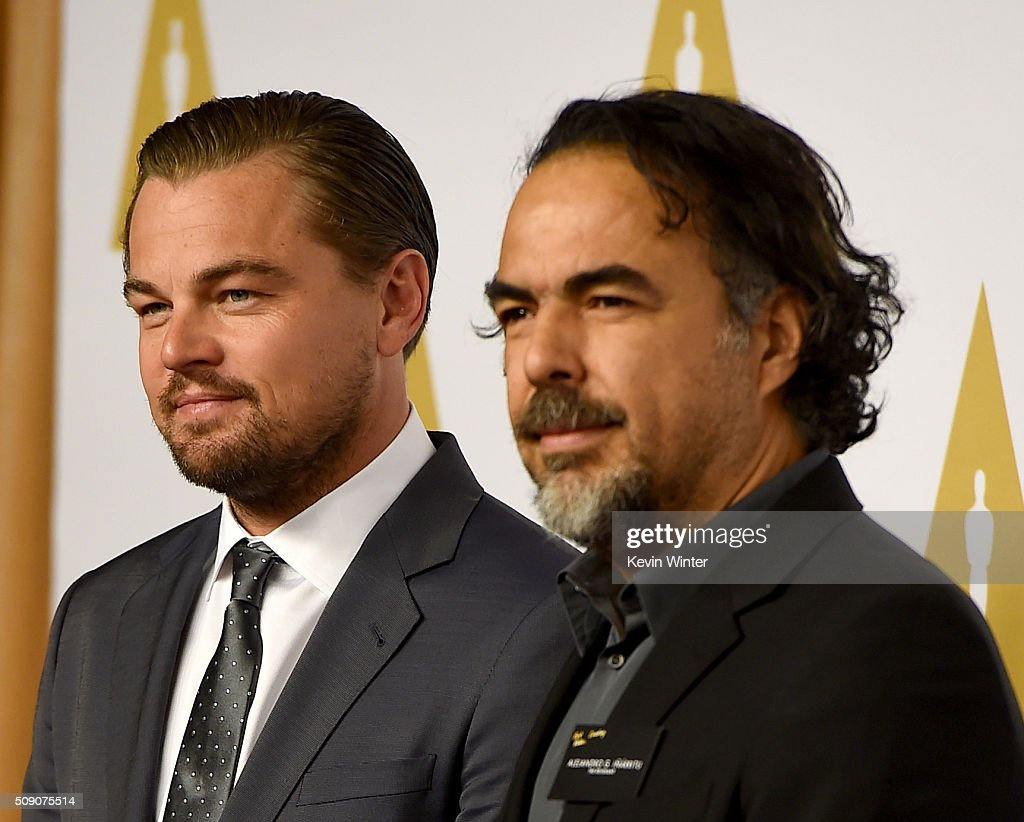 Actor Leonardo DiCaprio (L) and director Alejandro Gonzalez Inarritu attend the 88th Annual Academy Awards nominee luncheon on February 8, 2016 in Beverly Hills, California.