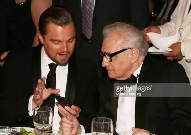 Actor Leonardo DiCaprio and director and Cinematic Imagery Award Honoree Martin Scorsese at the 18th Annual ADG Awards at The Beverly Hilton Hotel on...