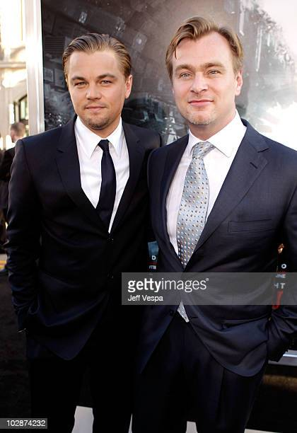 Actor Leonardo DiCaprio and director Christopher Nolan arrive at the 'Inception' Los Angeles Premiere at Grauman's Chinese Theatre on July 13 2010 in...