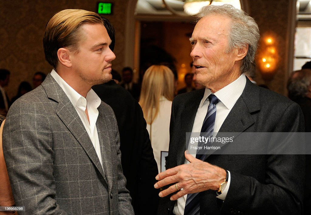 Actor Leonardo DiCaprio (L) and Director Clint Eastwood attend the 12th Annual AFI Awards held at the Four Seasons Hotel Los Angeles at Beverly Hills on January 13, 2012 in Beverly Hills, California.
