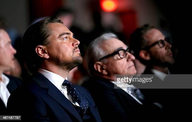 Actor Leonardo DiCaprio and director Martin Scorsese attend the Cinema Vanguard Award to Martin Scorsese and Leonardo DiCaprio at the Arlington...