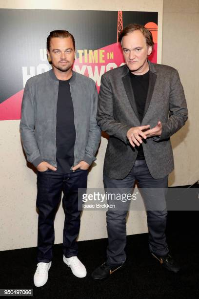 Actor Leonardo DiCaprio and director Quentin Tarantino attend the CinemaCon 2018 Gala Opening Night Event Sony Pictures Highlights its 2018 Summer...