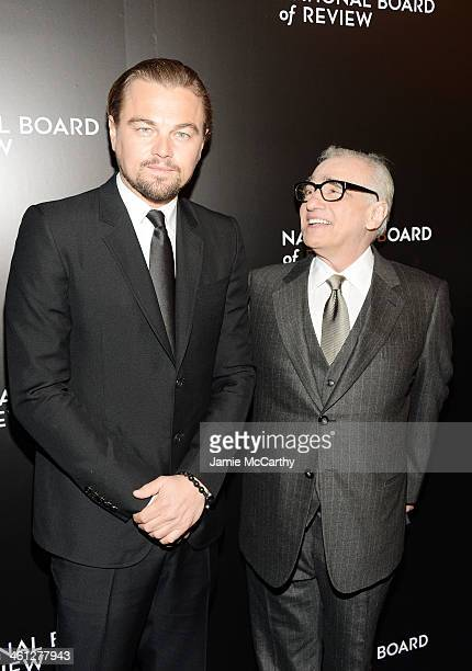 Actor Leonardo DiCaprio and filmmaker Martin Scorsese attend the 2014 National Board Of Review Awards Gala at Cipriani 42nd Street on January 7 2014...