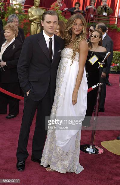 Actor Leonardo DiCaprio and girlfriend supermodel Gisele Bundchen arrive at the 77th Annual Academy Awards�� at the Kodak Theatre